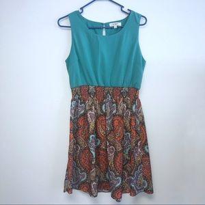 Dress Umgee Medium Print Turquoise